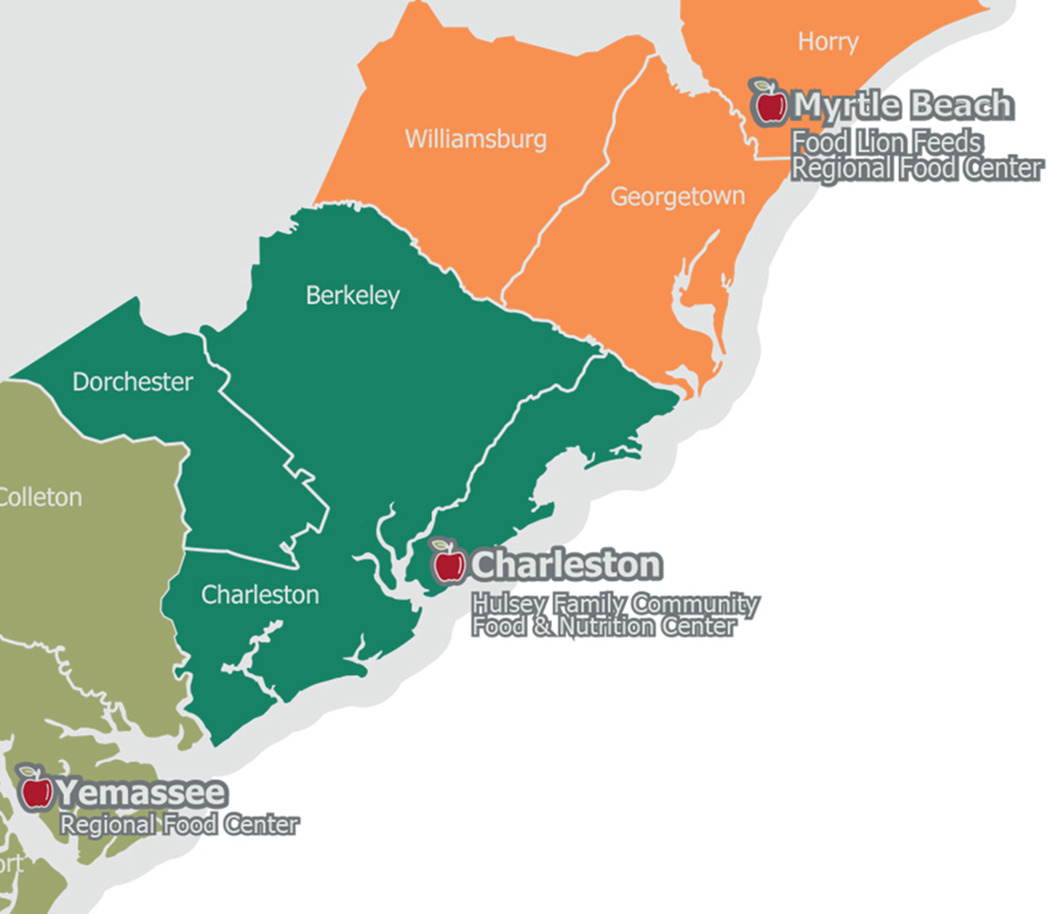 Lowcountry Food Bank Map